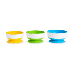 Munchkin Stay Put Suction Bowl, Pack of 3-0