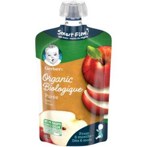 Gerber Organic Puree - Apple, Baby Food - 128ml-0