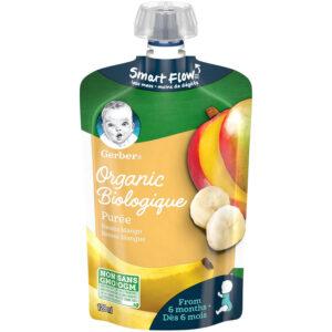 Gerber Organic Puree - Banana Mango, Baby Food - 128ml-0