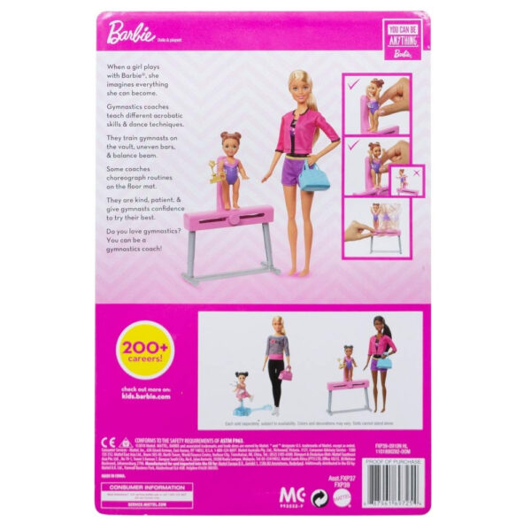 Barbie Gymnastics Coach Dolls and Playset-31125