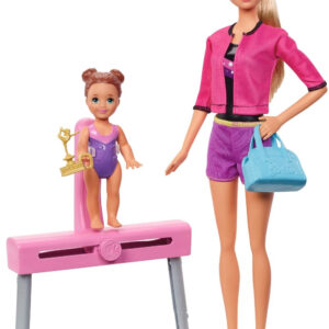 Barbie Gymnastics Coach Dolls and Playset-0