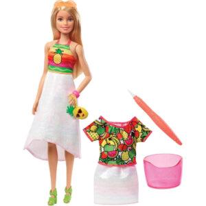 Barbie Crayola Rainbow Fruit Surprise Doll & Fashions Playset-0