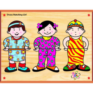 Kinder Creative Dress Matching Girl - Brown-0