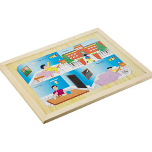 Kinder Creative Magnetic Clock Puzzle with Magnetic Base - Brown-0