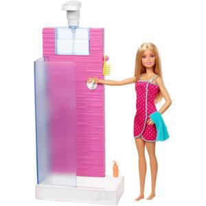Barbie Doll & Shower Playset - Pink-0