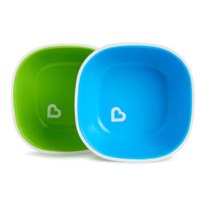 Munchkin Splash Toddler Bowls 2 Piece Green/Blue-0