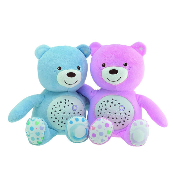Chicco First Dreams Baby Plush Teddy Bear, Musical Night Light - Pink-31226