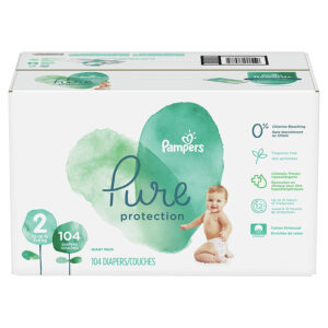 Pampers Pure Disposable Baby Diapers Size 2 - 104 Pcs-0
