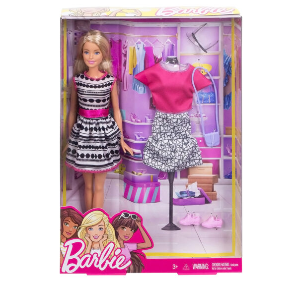 Barbie Fashion Doll Playset (FFF59)-31299