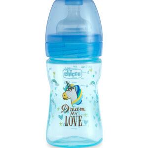 Chicco Fantastic LOVE Baby Bottle Fast Flow (4M+) - 150ml-0