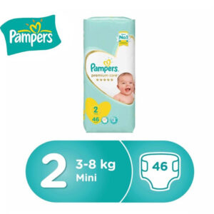 Pampers Premium Care Diapers, Size 2 (3-8 kg) - 46 Count-0
