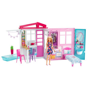 Barbie House and Doll (FXG55) - Pink-0
