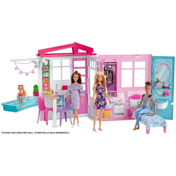 Barbie House and Doll (FXG55) - Pink-31378