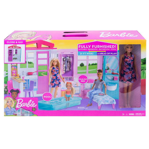 Barbie House and Doll (FXG55) - Pink-31373