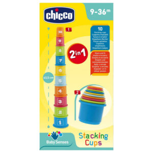 Chicco Baby Senses Stacking Cups - Multicolor-0