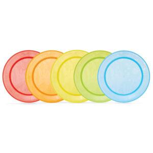 Munchkin Multi Plates (Multicolor) Pack of 5-0