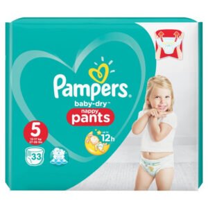 Pampers Baby-Dry Pants Size 5 - 33 Pcs-0