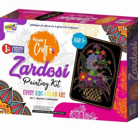 Mansaji Kid's DIY Beautiful Zardosi Painting Kit-0
