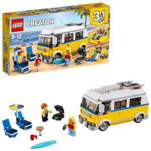 Lego Creator 3in1 Sunshine Surfer Van Building Blocks for Kids (31079) - 379 Pieces-0