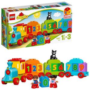 LEGO Duplo Number Train Building Blocks for Kids (10847) - 16 Pcs-0