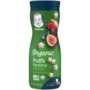 Gerber Organic Puffs - Fig Berry - 42gm -0