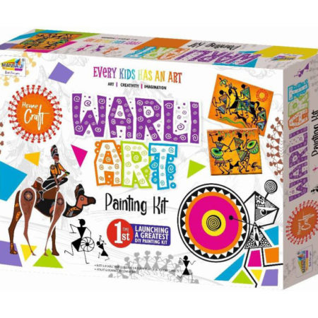 Mansaji DIY Warli Art Painting Kit for Kids-0