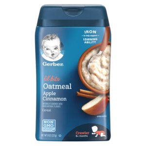 Gerber Lil' Bits Oatmeal Apple Cinnamon Baby Cereal - 227 gm -0