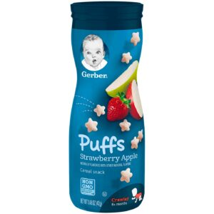 Gerber Graduates Puffs Strawberry Apple (Crawler, 8M+) - 42gm-0