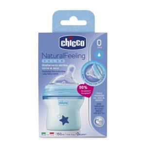 Chicco Natural Feeling Feeding (Blue) - 150ml-0