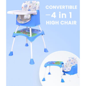 R for Rabbit Cherry Berry Grand - The Convertible 4 in 1 High Chair for Baby/Kids (Blue)-0