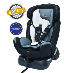 R For Rabbit Convertible Jack n Jill Grand Car Seat for Baby (0-7Y) - Black/Grey Shade-0