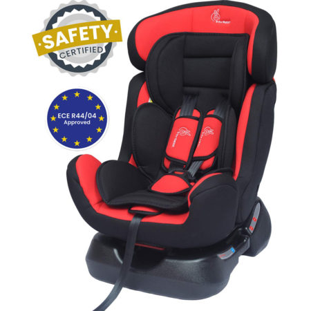 R For Rabbit Convertible Jack n Jill Grand Car Seat for Baby (0-7Y) - Red/Black-0