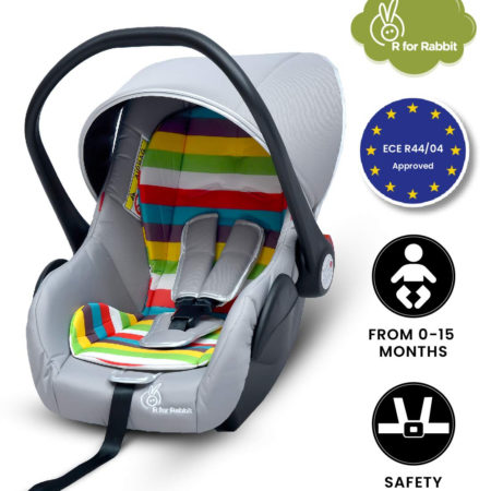 R for Rabbit Picaboo - Infant Car Seat Cum Carry Cot (Rainbow)-0