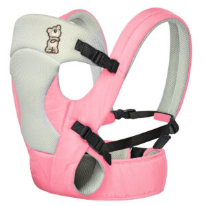 R For Rabbit New Cuddle Snuggle - 3 Way Comfortable Baby Carrier (Pink Grey)-0