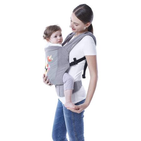 R For Rabbit Hug Me Elite - The Ergonomic Baby Carrier - Grey-0