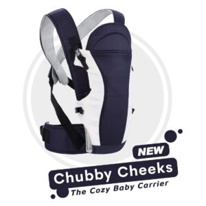 R for Rabbit Chubby Cheeks (New) - The Cozy Baby Carrier - Midnight Black-0