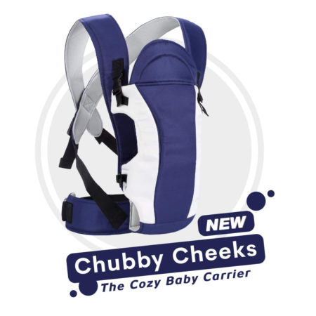 R for Rabbit Chubby Cheeks (New) - The Cozy Baby Carrier - Royal Blue-0