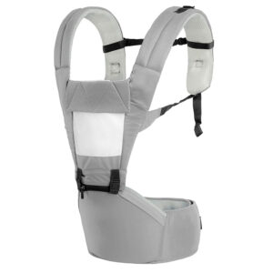 R for Rabbit Upsy Daisy Smart Hip Seat Baby Carrier - Grey Cream-0