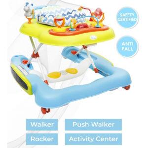 R for Rabbit TIK Tok - The 4 in 1 Baby Walker Cum Activity Center (Walker, Rocker, Push Walker, Activity Center)-0