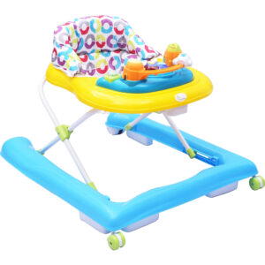 R for Rabbit Zig Zag Baby Walker - The Anti Fall Safe Baby Walkers (Yellow/Blue)-0