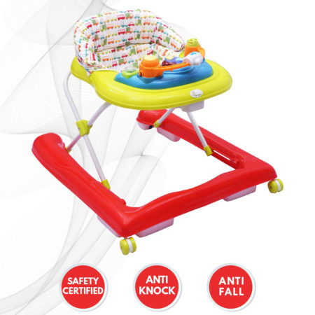 R for Rabbit Zig Zag Baby Walker - The Anti Fall Safe Baby Walkers (Red Green)-0
