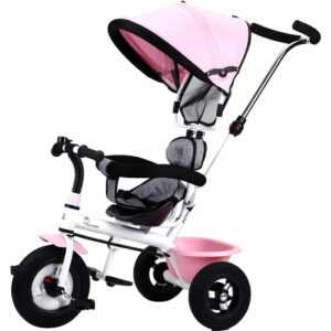 R for Rabbit Tiny Toes Sportz - The Stylish Plug N Play Tricycle For Babies Pink-0