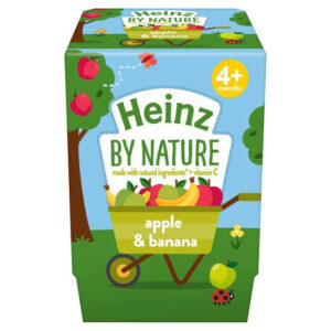Heinz Apple and Banana Dessert Pot, 2 x 100 g -0