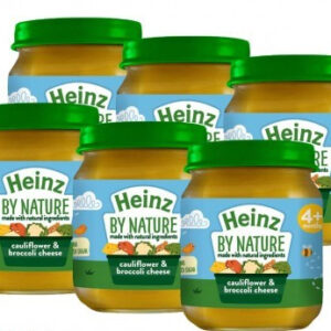 Heinz Ready To Eat Cauliflower Broccoli Cheese Jar (4M+) 120 g ( Pack of 6)-0