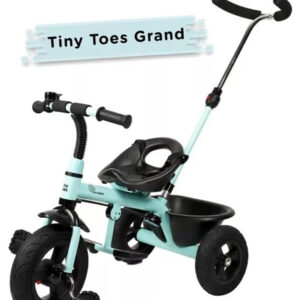 R for Rabbit Tiny Toes Grand The Smart Plug N Play Tricycle - Aqua Blue-0