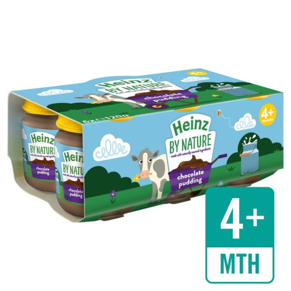 Heinz Chocolate Pudding, Pack of 6 - 120gm (November 2020 expiry)-0