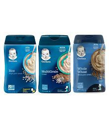 Gerber Baby Food rice,whole wheat,multigrain Infant Cereal for 6 Months -0