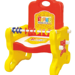 Young Wheel Peep-Peep Potty Training Seat Cum Baby Chair 2 in 1- Red-0