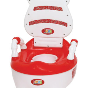 Young Wheel Baby Chair & Potty Trainer 2 in 1- Red -0
