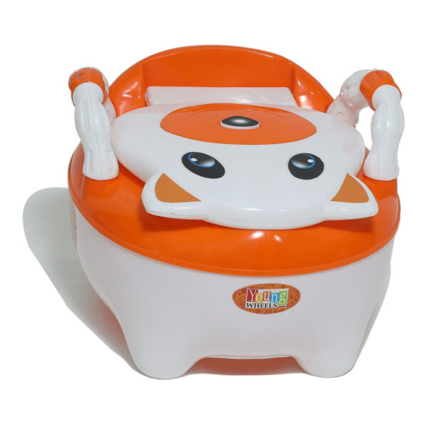 Young Wheel Baby Chair & Potty Trainer 2 in 1- Orange-0